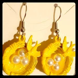 Jewelry - ⚪🐣Pearl🐣Eggs🐣In🐦Bird⚪Nest🐣Earrings🐣⚪
